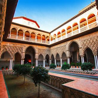 Het Real Alcazar in de Spaanse stad Sevilla in de regio Andalusie