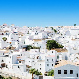 Witte huizen in Costa de la Luz in Spanje