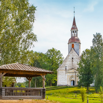 St. Andrew kerk in Sangasta Estland