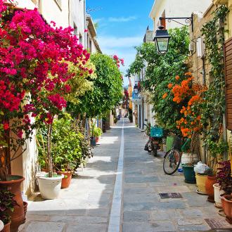 Steegje in Kreta, Griekenland