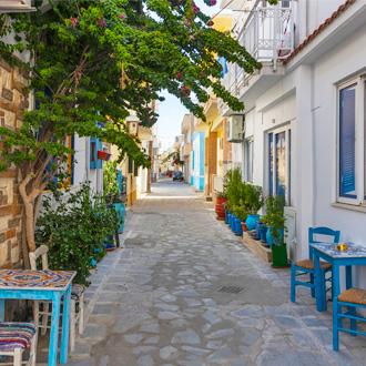 Straat in Kardamena, Kos, Griekenland