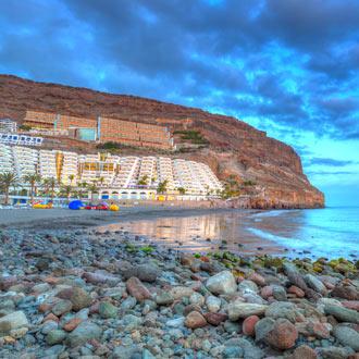 Het strand in het zuiden van Gran Canaria