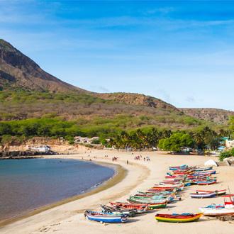 Tarrafel strand op Santiago eiland in Kaapverdie