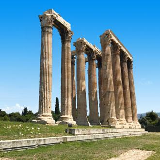Tempel van Zeus in Athene, Griekenland