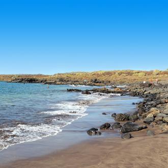 Het strand in Costa del Silencio