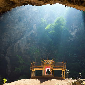 Boeddhistisch paviljoen in Thailand