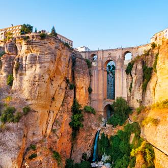 The puente Nuevo New Bridge in Ronda, Costa del Sol, Spanje