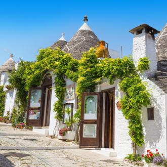 Trulli huizen Typische witte Pugliaanse huisjes in Alberobello