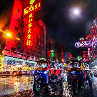 Tuktuk by night in Bangkok, Thailand