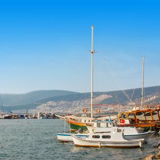 Bootjes in de haven van Didim