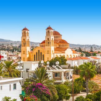 Uitzicht over de stad Paphos in Cyprus