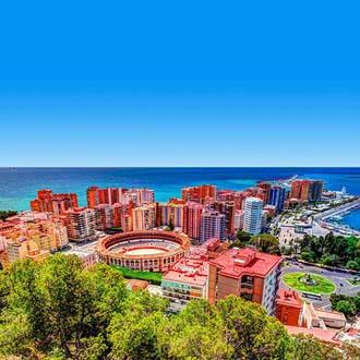 Uitzicht over de stad Malaga