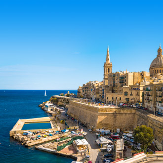 Uitzicht op Valletta, Malta
