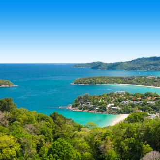 Uitzicht op de stranden van Kata en Karon Beach vlakbij Patong Beach Thailand