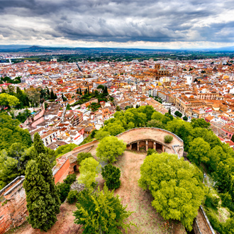 Uitzicht over Albayzin in Granada