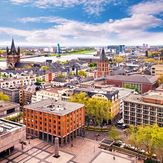 Uitzicht over de stad van Keulen