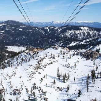Uitzicht over het skigebied bij Zell am See