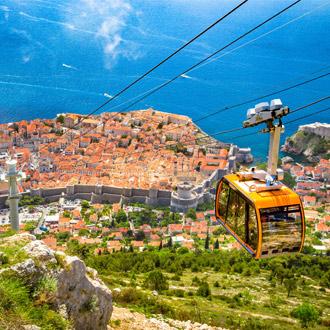 Uitzicht vanaf kabelbaan op Dubrovnik