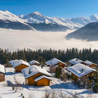 Skilift bij Veysonnaz
