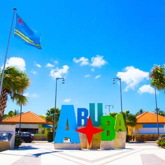 Welkom op Aruba logo op het eiland Aruba