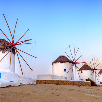 Windmolens op Mykonos