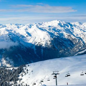 Winterlandschap Alpen, Oostenrijk