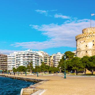 Witte Toren (Lefkos Pyrgos) in Thessaloniki, Griekenland