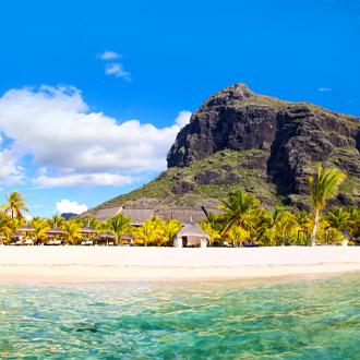 Witte zandstranden van Mauritius-eiland
