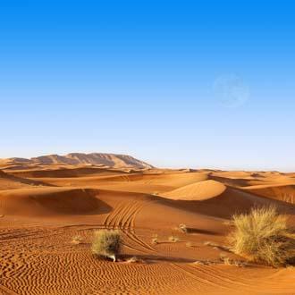 Woestijn in de Verenigde Arabische Emiraten