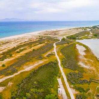 Een zoutmeer in Tigaki op het Griekse eiland Kos