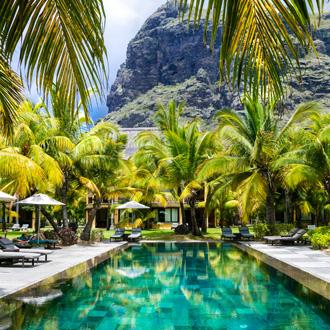 Zwembad op een luxe tropische vakantie, Mauritius