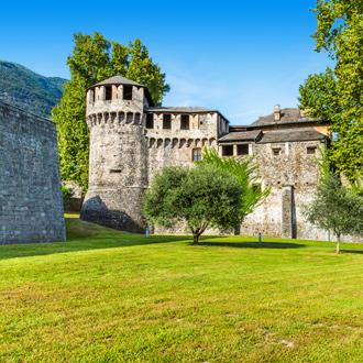Kasteel van de stad Locarno of Ticino Canton in Zwitserland