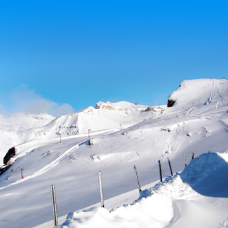 Skipistes van Crans Montana in Zwitserland