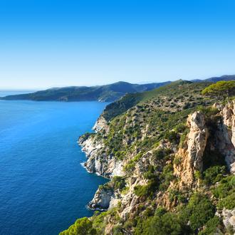 Spaanse kustklif, Cap Norfeu, aan de Costa Brava