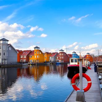 De pier van Reitdiephaven in Groningen
