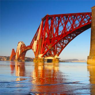 Forth Rail bridge van Edinburgh