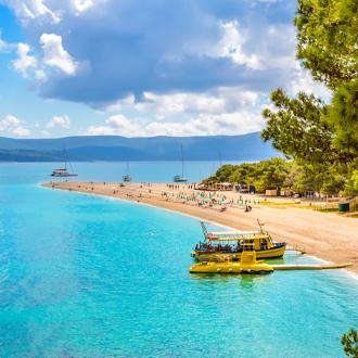 De Golden Kaap op het eiland Brac in Kroatie