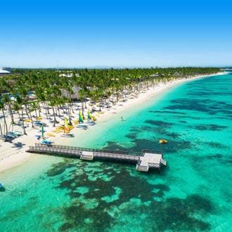 luchtfoto van het caribische resort Bavaro, Punta Cana