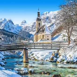 Winterlandschap in de Beierse Alpen, Duitsland