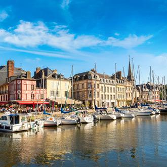Haven van Honfleur in Normandie