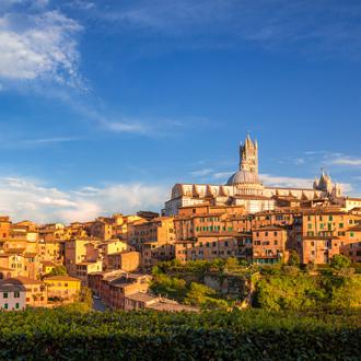 Panoramisch uitzicht op Siena, Toscane, Italie