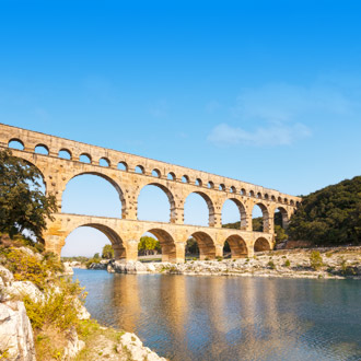 Het aquaduct Pont du Gard in Frankrijk