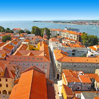 Stadsgebouwen in Noord-Dalmatië