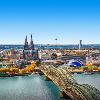 Luchtfoto van Keulen in Duitsland