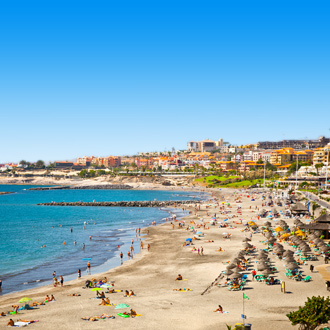 Strand van Playa de las Americas op Tenerife