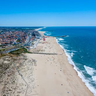 Strand van Espinho , Costa Verde, Portugal