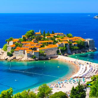Sveti Stefan eiland in Budva, Montenegro
