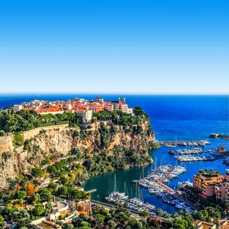 Het Vorstendom Monaco aan de Middellandse Zee in Frankrijk