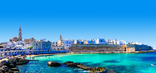 Mooie kustlijn in Puglia