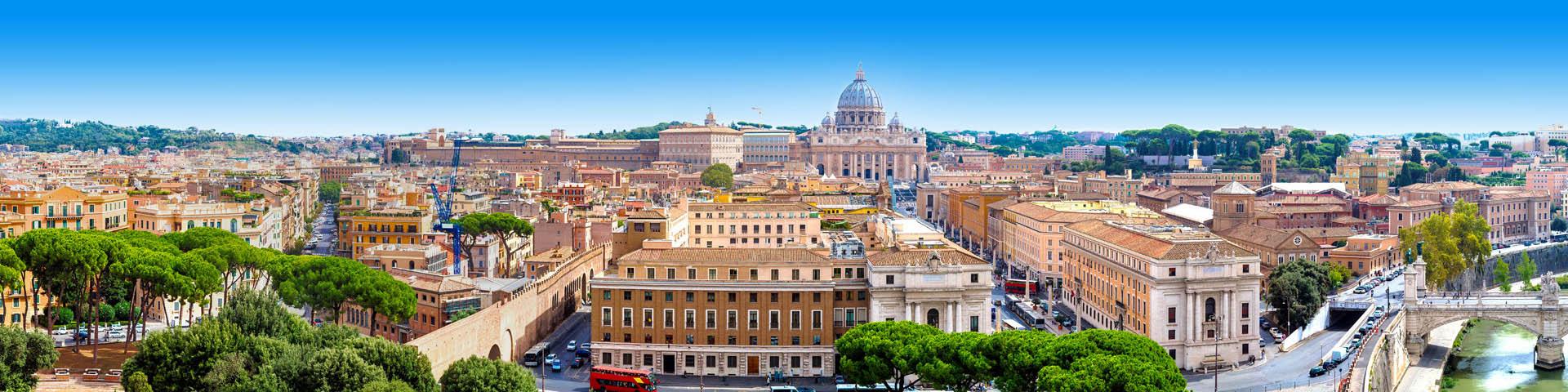 Citytrip uitzicht op de Sint Pieter in Rome